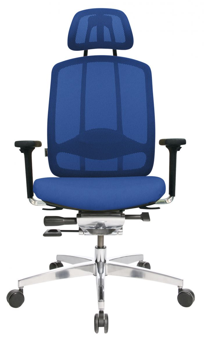 Wagner AluMedic 10 Bürodrehstuhl mit Kopfstütze blau