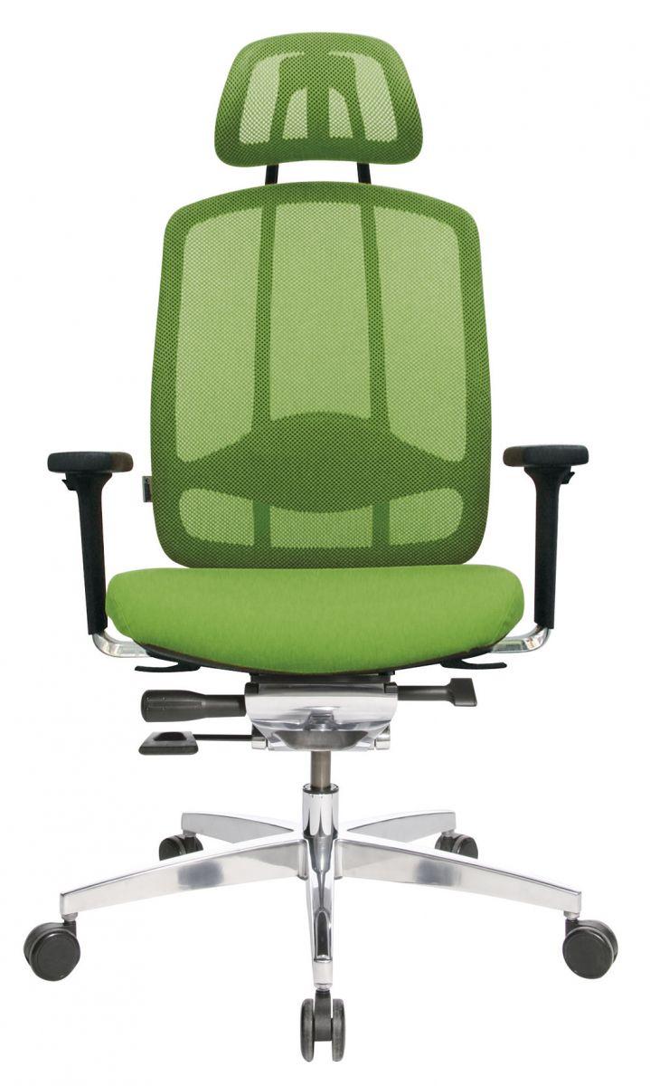 Wagner AluMedic 10 Bürodrehstuhl mit Kopfstütze Apfelgrün