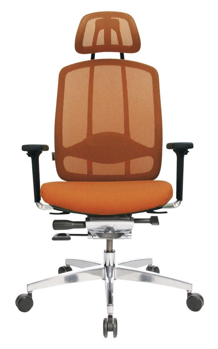 Wagner AluMedic 10 Bürodrehstuhl mit Kopfstütze orange