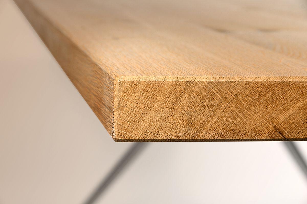 W-Table Konferenztisch 180 x 90 cm, Tischplatte Asteiche