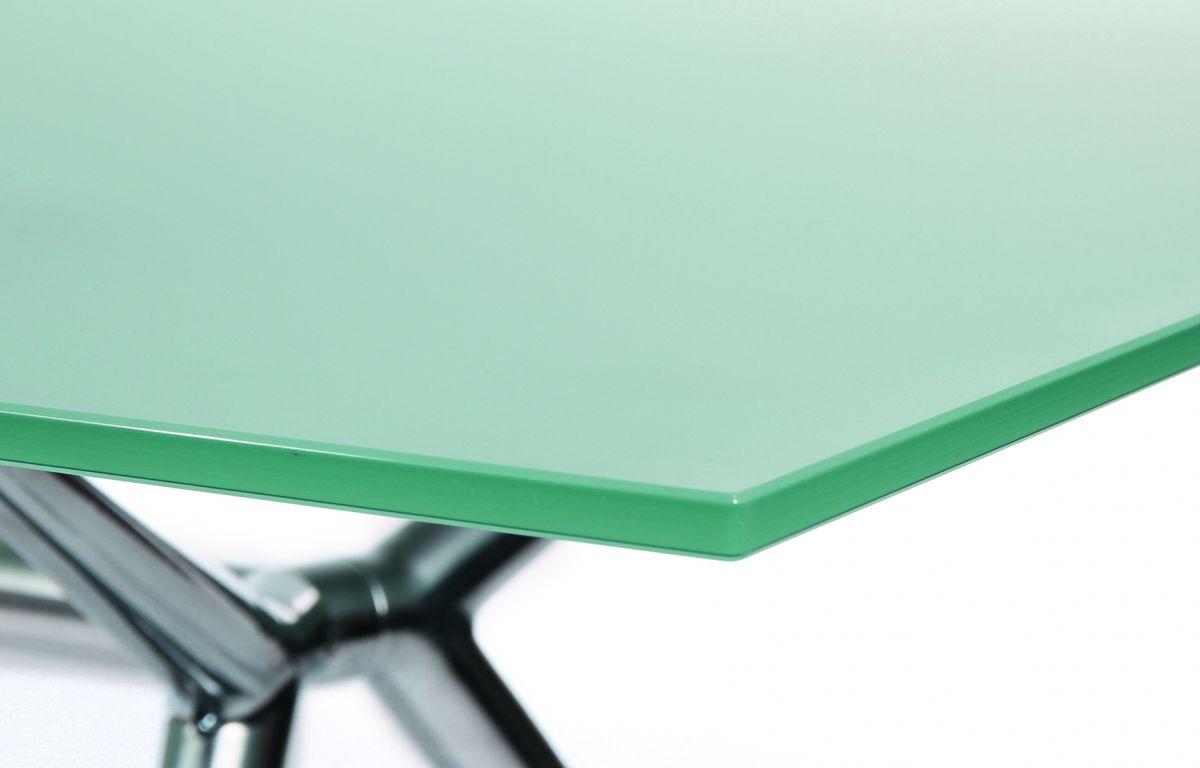W-Table Konferenztisch 180 x 90 cm, Tischplatte Glas