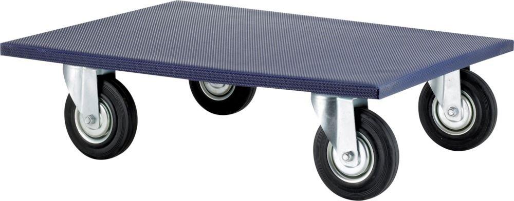 Möbelroller 300 kg Tragkraft, 4 Lenkrollen Vollgummi Ø 100 mm