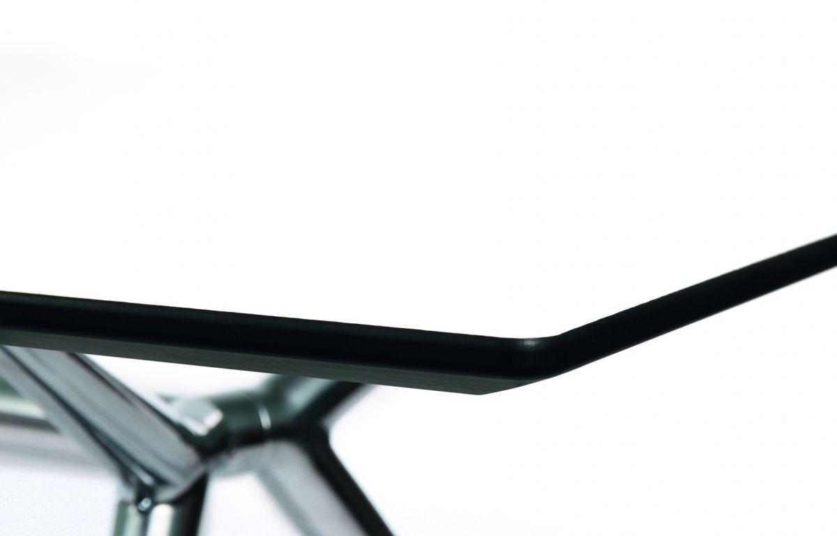 W-Table Konferenztisch 180 x 90 cm, Tischplatte weiß