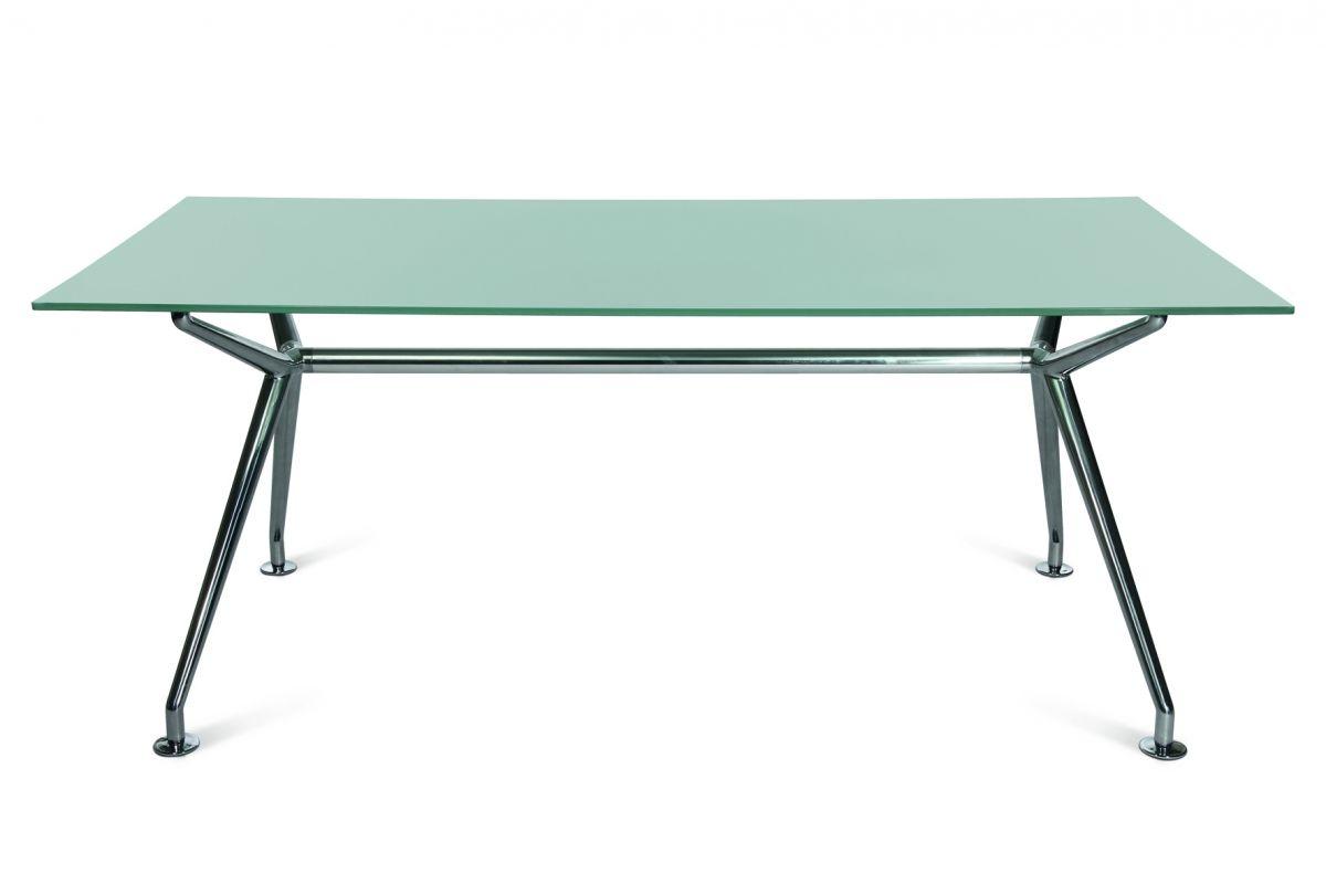 Wagner W-Table® mit edler Glasplatte, satiniert 110x220 cm