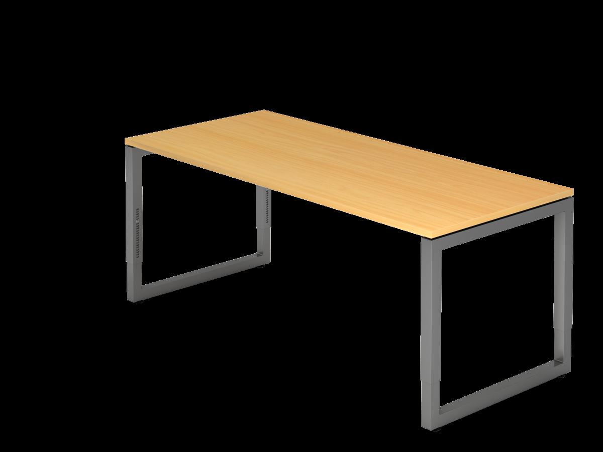 Schreibtisch mit schwebender Tischplatte 180x80 cm Buche Dekor, Gestell graphit