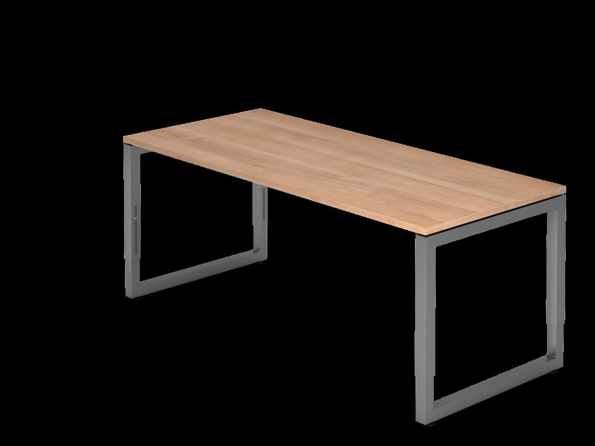 Schreibtisch mit schwebender Tischplatte 180x80 cm Nußbaum Dekor, Gestell graphit