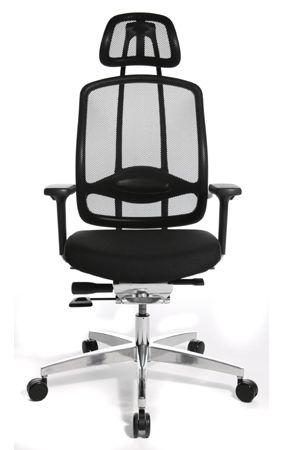 Wagner AluMedic 10 Bürodrehstuhl mit Kopfstütze schwarz