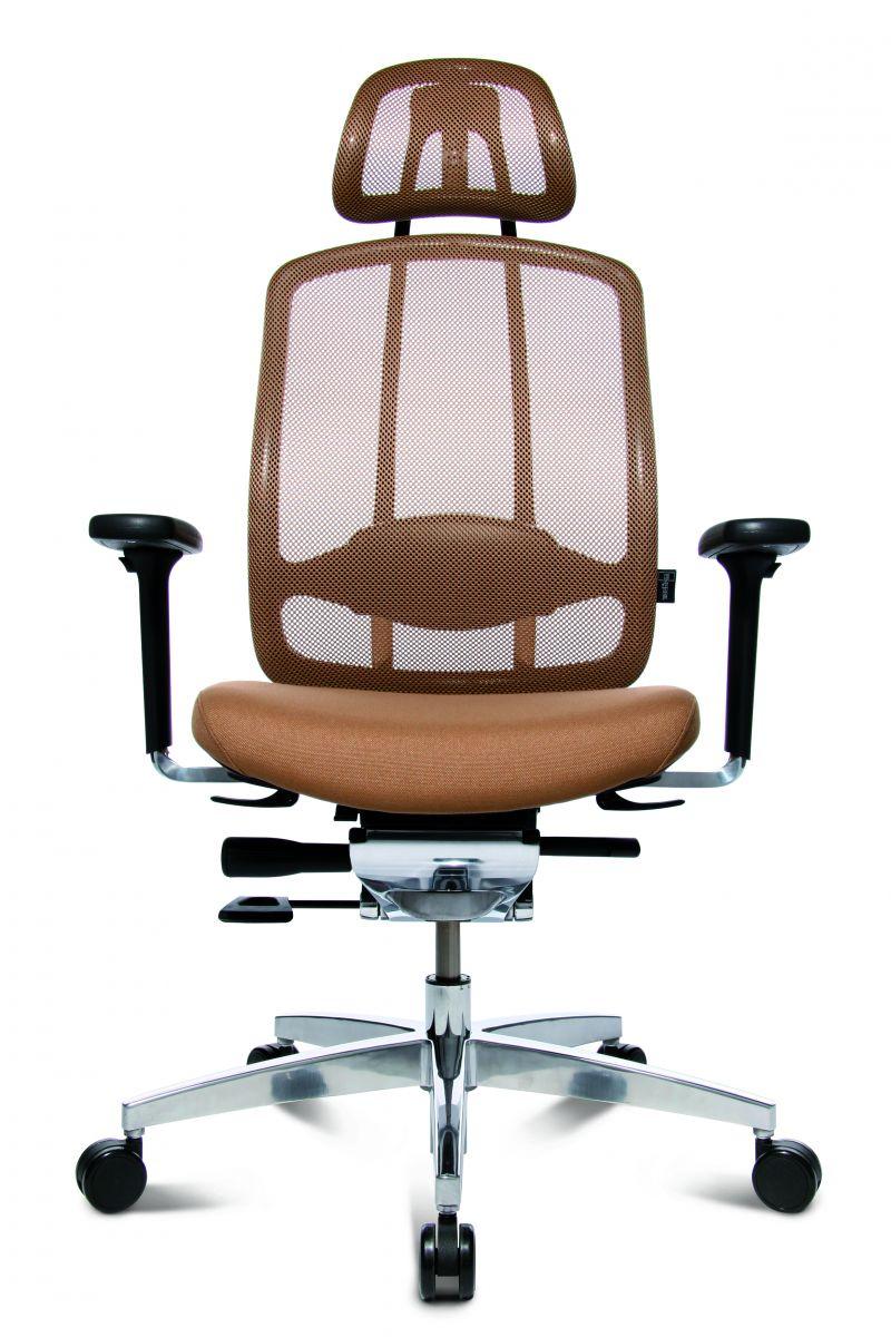 Wagner AluMedic 10 Bürodrehstuhl mit Kopfstütze hellbraun