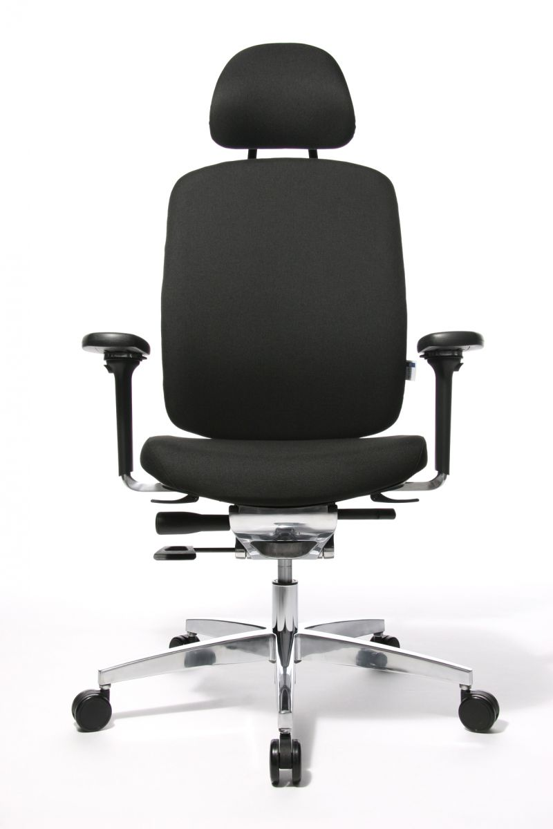 Wagner AluMedic 20 Bürodrehstuhl mit Kopfstütze schwarz