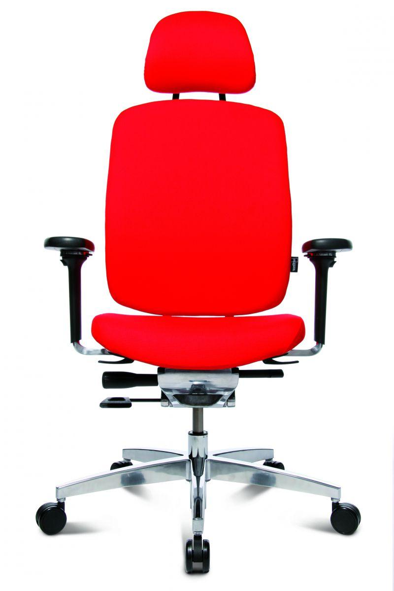 Wagner AluMedic 20 Bürodrehstuhl mit Kopfstütze rot