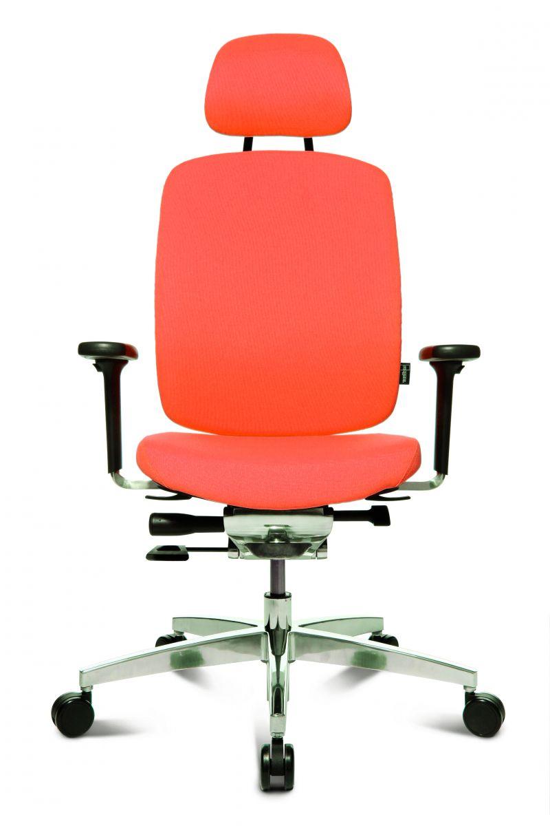 Wagner AluMedic 20 Bürodrehstuhl mit Kopfstütze orange