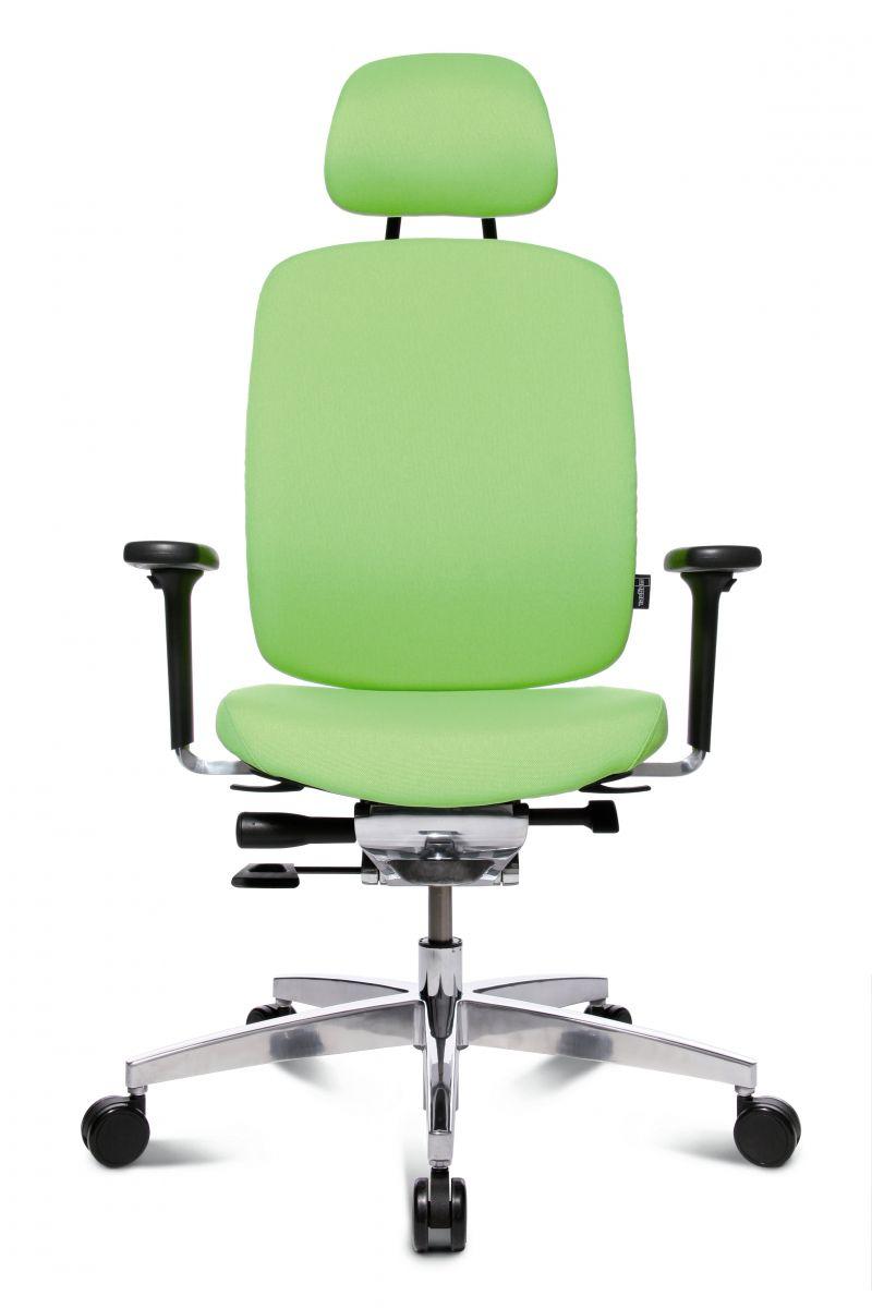 Wagner AluMedic 20 Bürodrehstuhl mit Kopfstütze Apfelgrün
