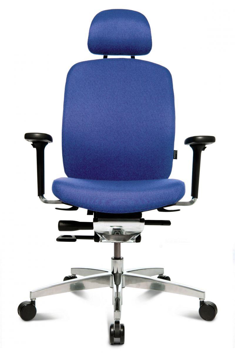 Wagner AluMedic 20 Bürodrehstuhl mit Kopfstütze blau