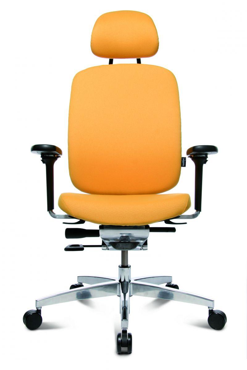 Wagner AluMedic 20 Bürodrehstuhl mit Kopfstütze gelb