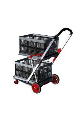 Transport-Klappmobil Clax Red Edition Premium bestehend aus 1 Klappmobil mit 2 Clax Faltboxen