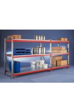 Schwerlastregal Grundfeld L1800xT1100 mm, bis zu H3300 mm Fachlast 1800 kg