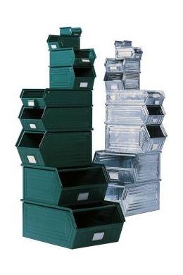 Sichtlagerkasten aus Stahlblech Größe 2z, LxBxH 520x300x300 mm