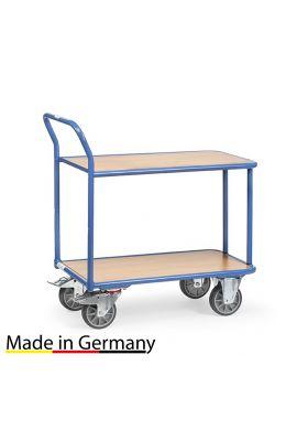 Leichter Tischwagen mit 2 Ebenen mit hochstehendem Griff