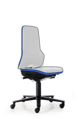 bimos Arbeitsstuhl ESD Neon 2 mit Rollen, Synchromechanik und Flexband blau