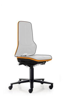 bimos Arbeitsstuhl ESD Neon 2 mit Rollen, Permanentmechanik und Flexband orange