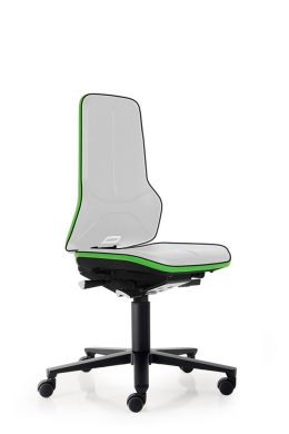 bimos Arbeitsstuhl ESD Neon 2 mit Rollen, Synchromechanik und Flexband grün