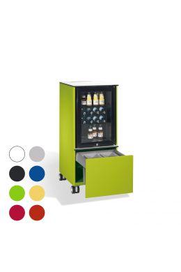 Mobiler Kühlschrank Caddy mit Abfallsammler