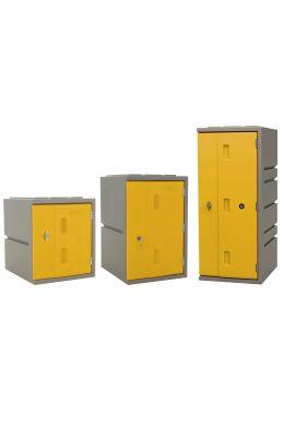 Kunststoff-Schließfächer Bloxz, gelb