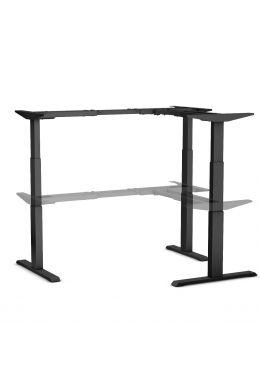 Tischgestell für 90°-Winkelplatte elektrisch höhenverstellbar, schwarz