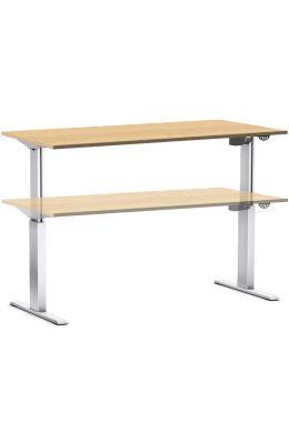 Arbeitstisch elektrisch höhenverstellbar 70-116 cm, Tischplatte Ahorn Dekor