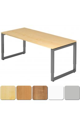 Schreibtisch mit optisch schwebender Tischplatte 180x80 cm, Gestell graphit